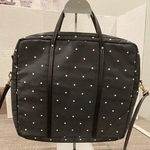 Kate Spade Polka Dot Laptop Bag. Padded. B&W